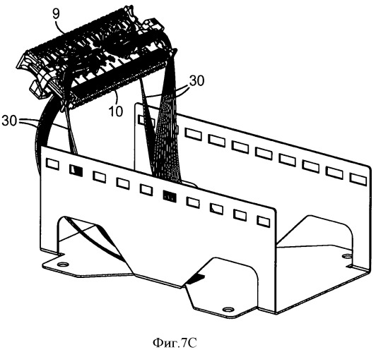 Контактная колодка для телекоммуникационных модулей и способ ее монтажа