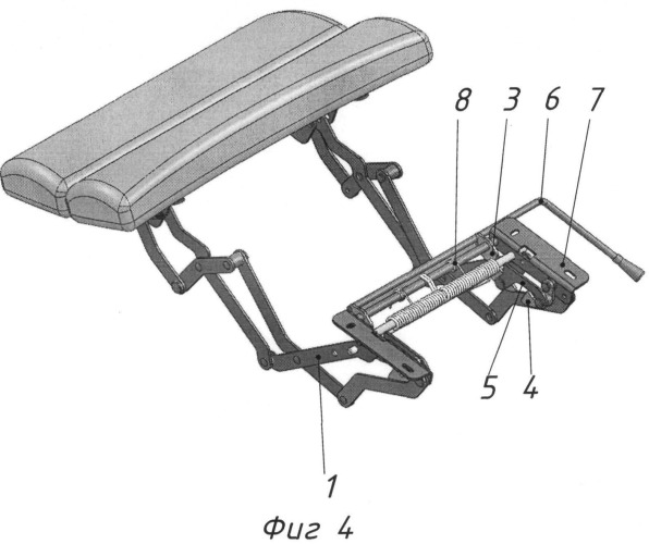 Механизм поднятия ног для кресла