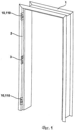Приспособление для притягивания дверного полотна или оконной створки к раме