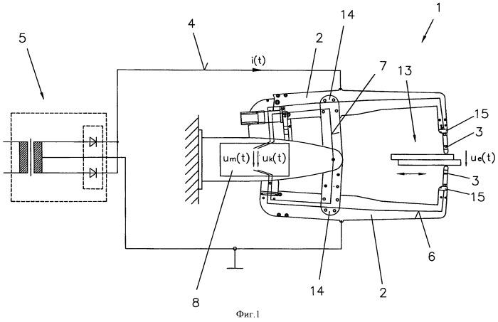 Способ и устройство для определения напряжения на электродах клещей для точечной сварки