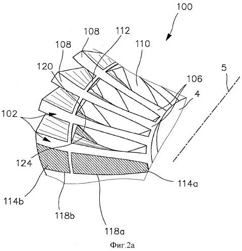 Усовершенствованный способ изготовления цельного ротора типа блиск с вспомогательным опорным кольцом для лопаток, расположенным на расстоянии от их кромок