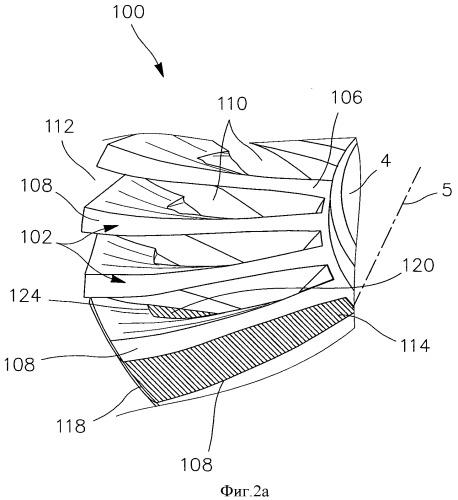 Способ изготовления моноблочного лопаточного диска путем резания абразивной водяной струей
