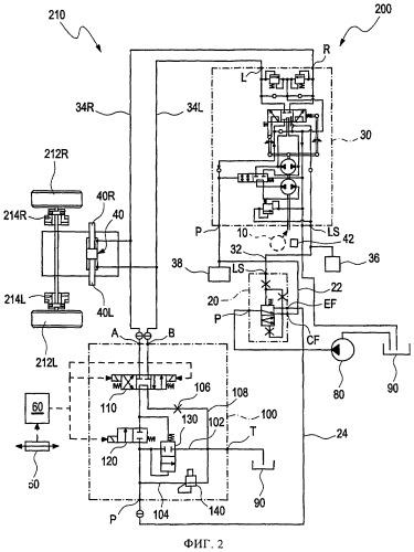 Гидравлическая система рулевого управления с двумя органами рулевого управления и содержащее ее транспортное средство