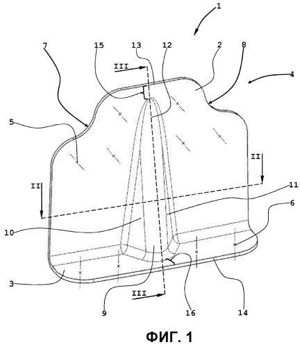 Сегмент оболочки для изготовления секции отсека фюзеляжа самолета