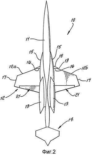Высокоэффективное сверхзвуковое крыло с ламинарным потоком