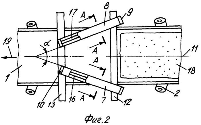 Наклонный ленточный конвейер