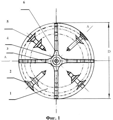 Ротор-метатель многоцелевого каналоочистителя