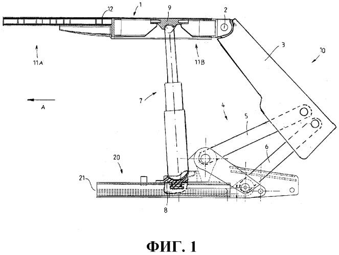 Сборка щитовой крепи для подземной разработки и элемент опорной поверхности