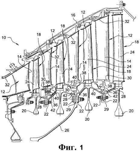 Разделенный на сектора направляющий аппарат для турбомашины, турбина низкого давления турбомашины и турбомашина