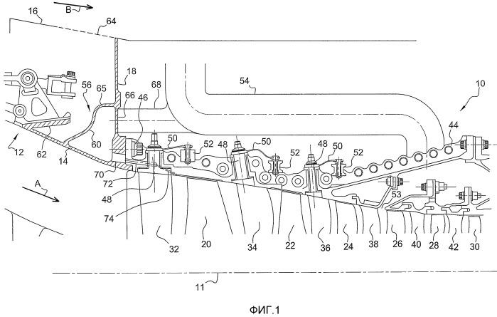 Воздушный коллектор в газотурбинном двигателе
