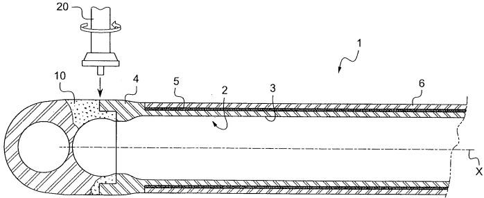 Способ изготовления соединительной штанги из металла, усиленной длинными волокнами