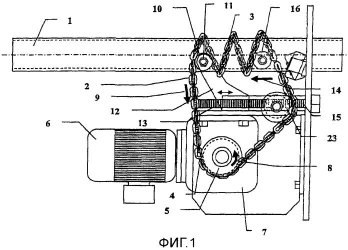 Привод для элемента машины, имеющего форму стержня