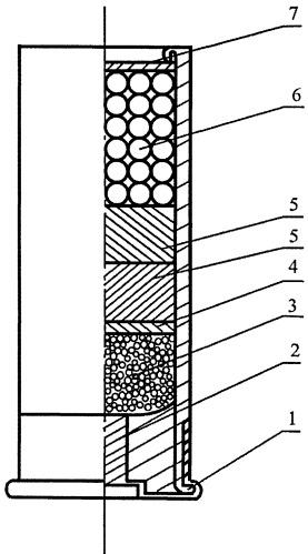 Заряд из сферического пороха для дробовых патронов к гладкоствольному оружию