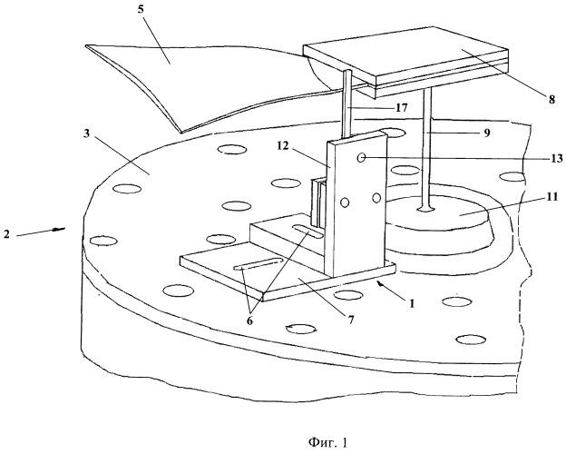 Нагрузочное устройство для исследования торцевого демпфирования колебаний лопаток вентилятора газотурбинного двигателя на вибростенде