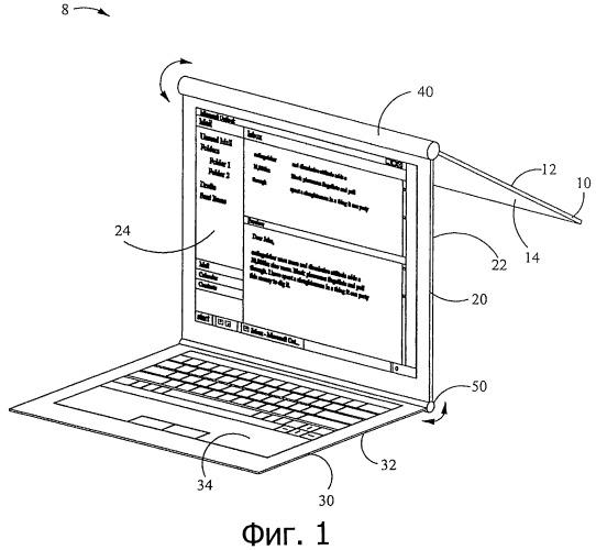 Электронное устройство с поворотными панелями, скомпонованными для дисплея и адаптивного интерфейса