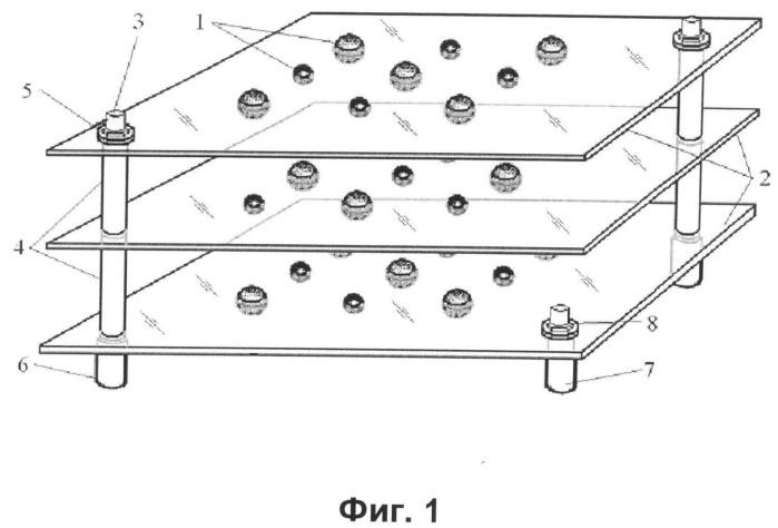 Наномасштабная модель кристаллической структуры вещества