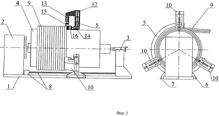 Установка для намотки обмоток трансформаторов и реакторов