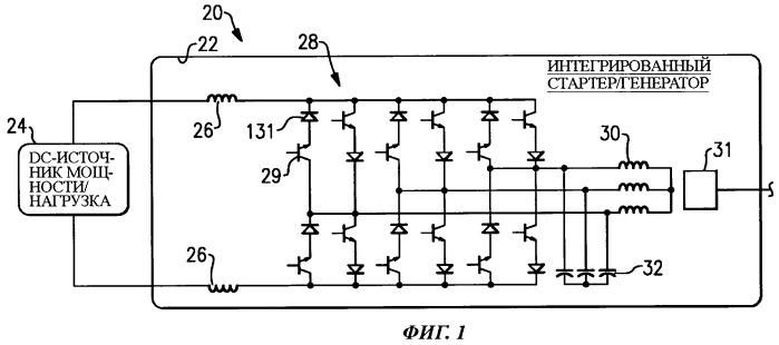 Электрическая машина и энергосистема транспортного средства