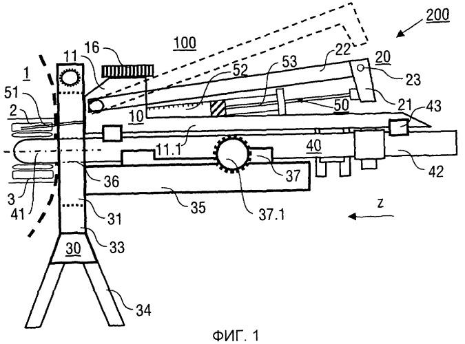 Инъекционное устройство для инъекции в биологическую ткань, медицинский прибор с таким инъекционным устройством, а также способ инъекции с использованием такого инъекционного устройства