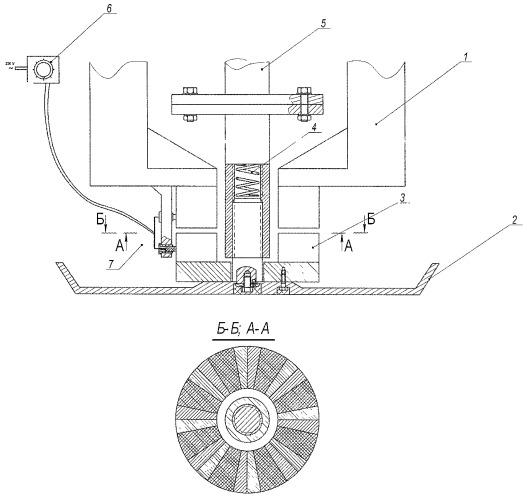 Дисковый вибрационный рабочий орган бетоноотделочной машины с электромагнитным вибровозбудителем