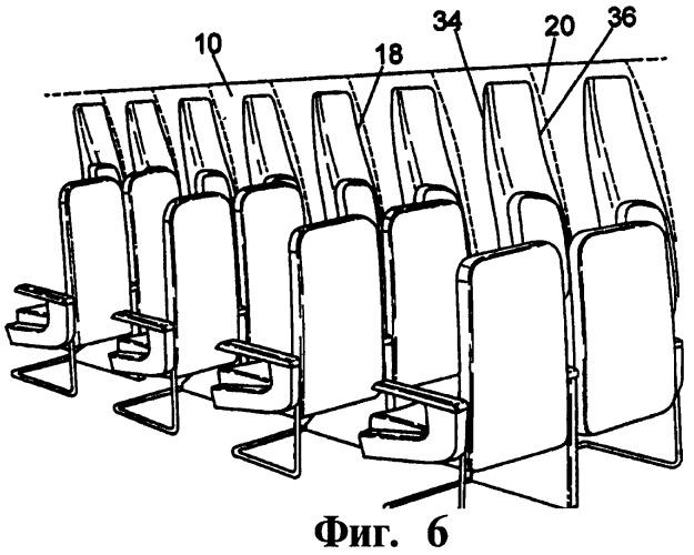 Салон летательного аппарата, летательный аппарат, стенка и панель салона летательного аппарата и набор деталей для сборки боковой стенки салона летательного аппарата