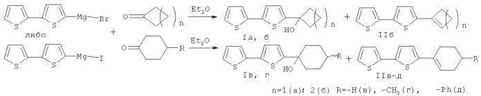 Способ получения третичных циклических спиртов ряда 2,2-битиофена