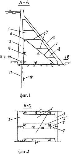 Гравитационная плотина с расширенными швами
