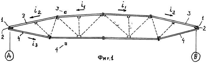 Опорный узел рыбовидной или сегментной фермы