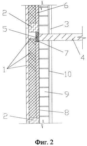 Способ возведения наружной стены с использованием комплексных фасадных панелей