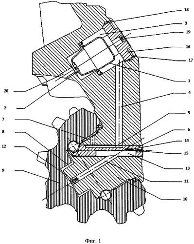 Система смазки бурового шарошечного долота с герметизированными опорами