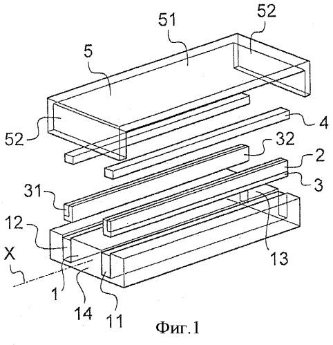 Способ изготовления металлической тяги, усиленной волокнами, и полученная тяга