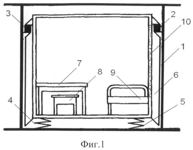 Виброизолятор судовой каюты