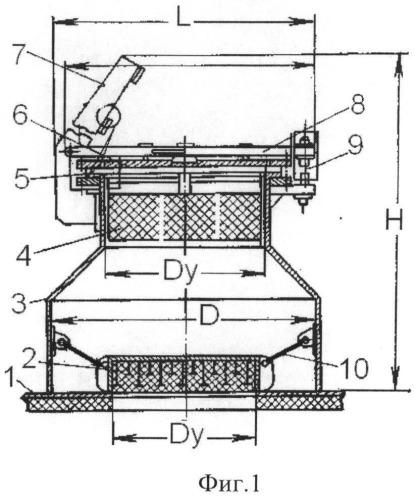 Взрывозащитный клапан для технологического оборудования