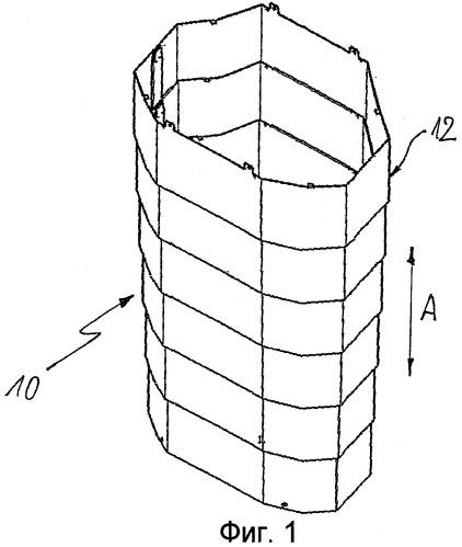 Кожух регулируемой по высоте опорной колонны