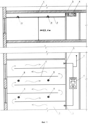 Отопительно-охладительное потолочное устройство