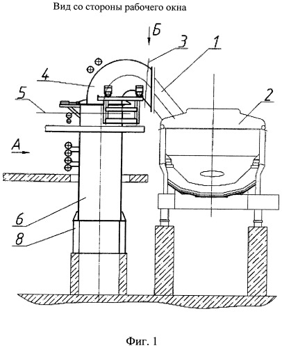 Способ технологической обработки паропылегазовых потоков в газоходах дуговых печей и устройство для его осуществления