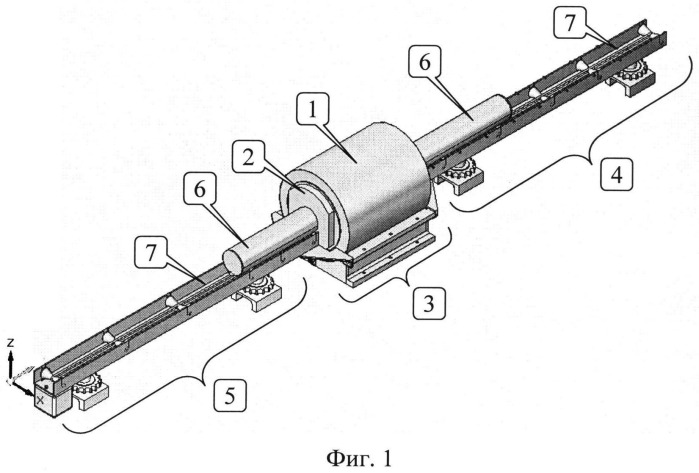 Устройство прецизионного перемещения полноразмерного керна в датчике ямр