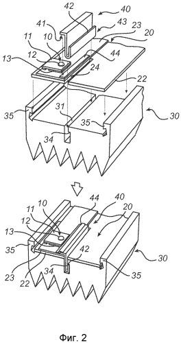 Теплопроводный установочный элемент для крепления печатной платы к радиатору