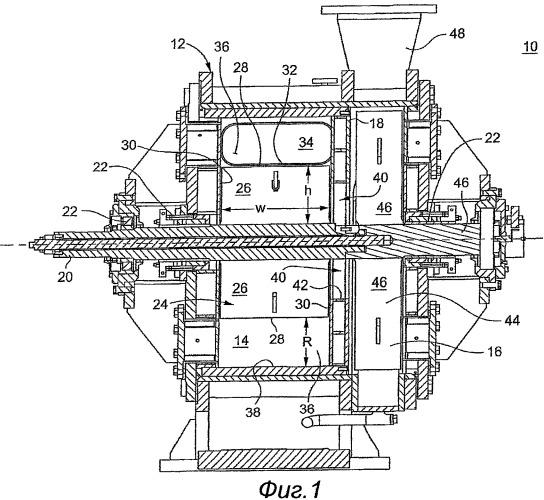 Способ и устройство для отделения волокон от газа в центрифуге
