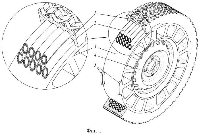 Способ армирования автомобильных безвоздушных шин