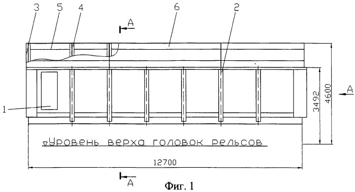 Способ перепрофилирования полувагона в весоповерочный вагон