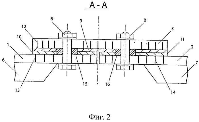Стыковочное соединение панелей из полимерного композиционного материала