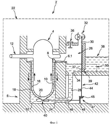 Ядерный реактор с улучшенным охлаждением в аварийной ситуации