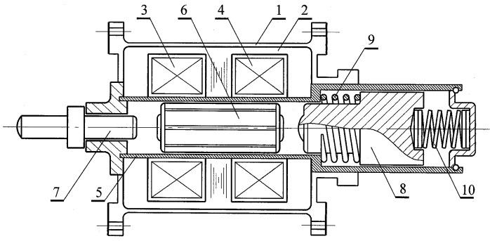 Синхронный электромагнитный двигатель возвратно-поступательного движения