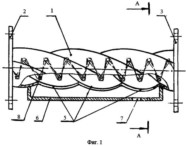 Прямоточный сепаратор для отделения дисперсных частиц от газа
