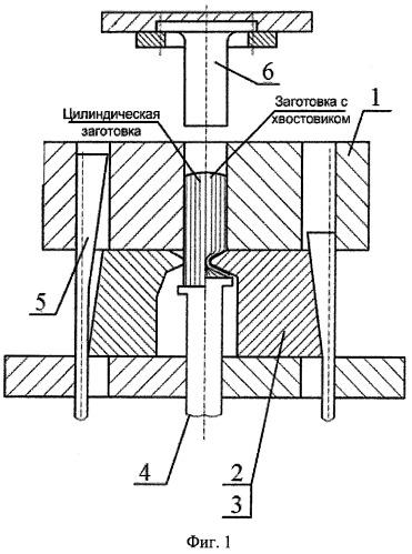 Способ изготовления штамповок лопаток переменного сечения с двумя хвостовиками