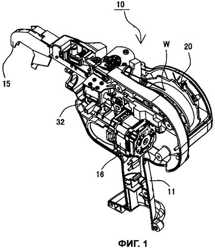 Тормозная система катушки с проволокой в машине для обвязки арматурных прутков