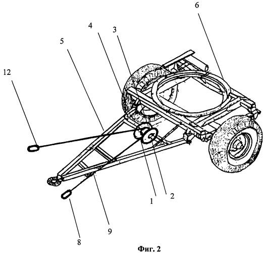 Тягово-догружающее устройство колесных транспортных средств при их агрегатировании с прицепами