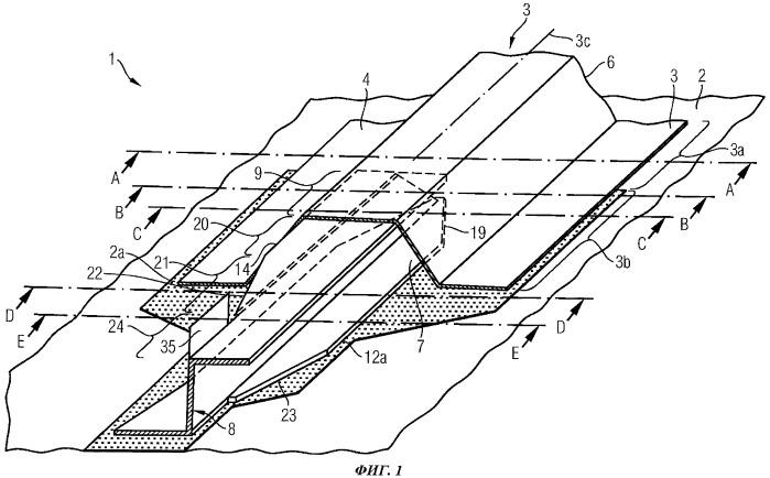 Конструктивный узел и конструкция, используемые, в частности, в авиастроении