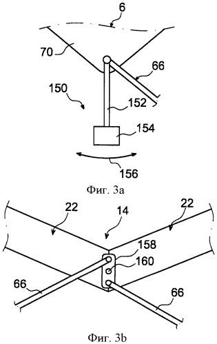 Хвостовая часть летательного аппарата, содержащая конструкцию крепления двигателей, проходящую через фюзеляж и соединенную с ним при помощи по меньшей мере одной тяги